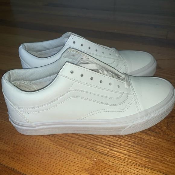 all white vans size 5
